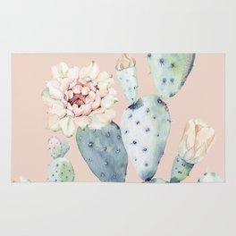 Desert Rose Cactus Pink Rug