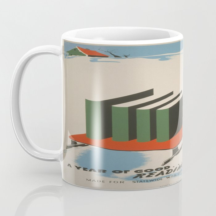 Vintage poster -  A Year of Good Reading Ahead Coffee Mug