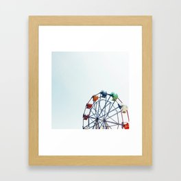 ferris wheel - balboa fun zone, newport beach, CA Framed Art Print