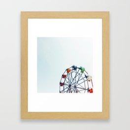 ferris wheel - balboa fun zone, newport beach, CA Framed Art Print
