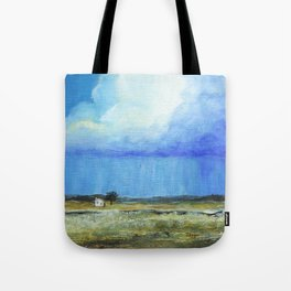 A Perfect Storm, Abstract Landscape Art Tote Bag
