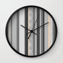 Beach House Stormy Grey Wall Clock