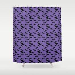 Batty purple Shower Curtain