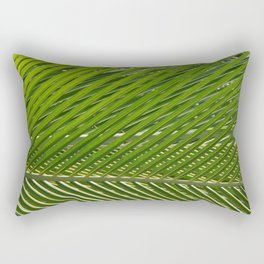 coconut leaves green mesh Rectangular Pillow