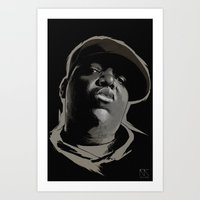 biggie smalls Art Prints featuring Biggie Smalls by Masood Tahir