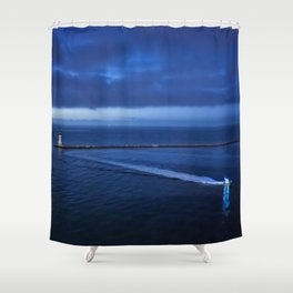 Coming into the Harbor at Dawn Shower Curtain