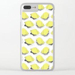 Summer Lemon Clear iPhone Case