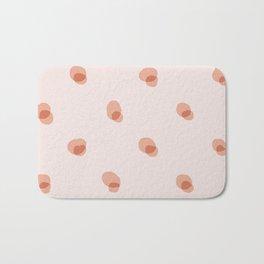 peach pink blobs Bath Mat