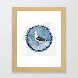 Great Black-backed Gull (Larus marinus) Framed Art Print
