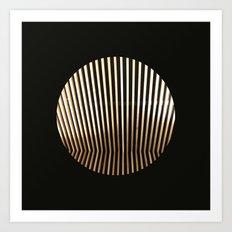 Golden Glamour Art Print