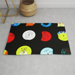 Vinyl Records Version 2 Rug