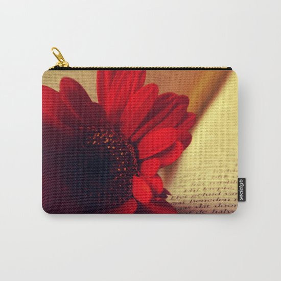 Shiny red gerbera Carry-All Pouch