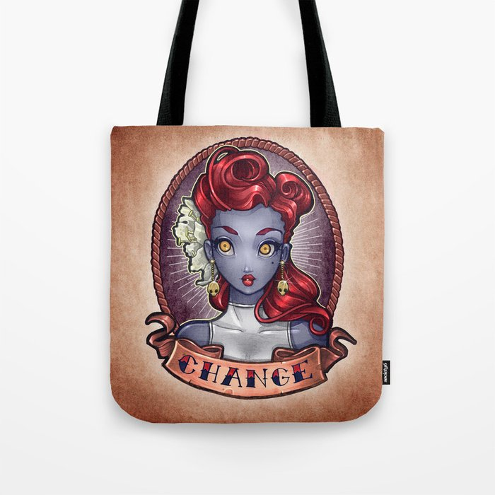 CHANGE pinup Tote Bag