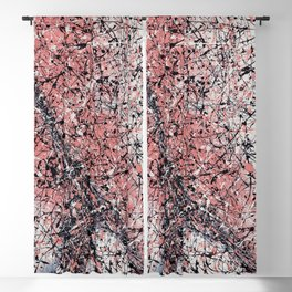 Paris - Jackson Pollock style drip painting design, Abstract art prints Blackout Curtain
