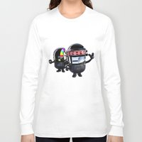 minions Long Sleeve T-shirts featuring Daft Minion by Harry Martin