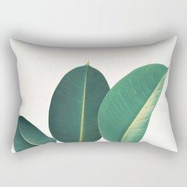Rubber Fig Leaves II Rectangular Pillow