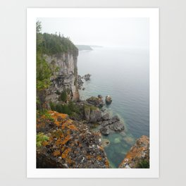 Bruce Trail Cliff II Art Print