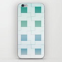 Woven pattern in soft colors iPhone Skin