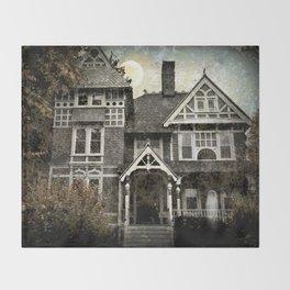 Haunted Hauntings Series - House Number 1 Throw Blanket
