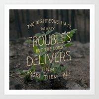 Psalm 34 Art Print