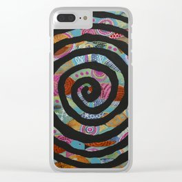 """""""Tribal Vibrations"""" Clear iPhone Case"""