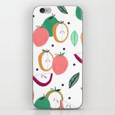 Apple print. illustration, art, print, design, pattern, fruit, food, fun, print design iPhone & iPod Skin