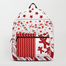 Holiday Red Quilt Design Backpack