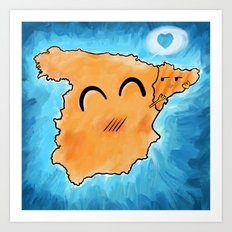 Spain loves Catalonia Art Print