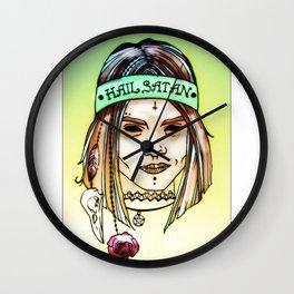 Hail Satan! 2 Wall Clock