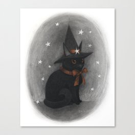 The Witch's Cat Canvas Print