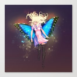 Butterfly Alice Canvas Print