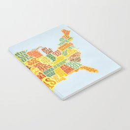 United States of America Map Notebook