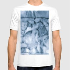 grey blues Mens Fitted Tee MEDIUM White