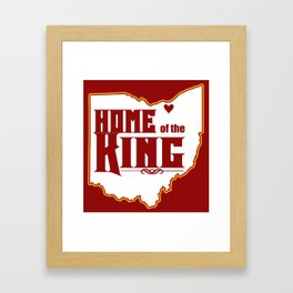 Home of the King (Red) Framed Art Print
