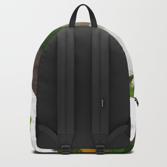 Spring Triangles - Fresh green and white triangle pattern - Greenery on #Society6 Backpack