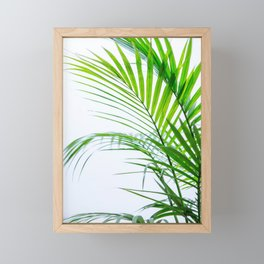 Palm leaves paradise Framed Mini Art Print
