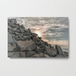 Rocks sky and sea Metal Print
