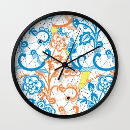Cobwebbed Flower Lace Pattern Wall Clock