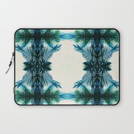 teal fern pattern Laptop Sleeve
