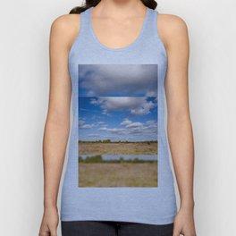 Blue sky cloudscape rural landscape Unisex Tank Top