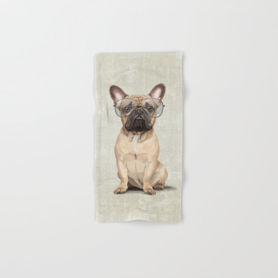 Mr French Bulldog Hand & Bath Towel