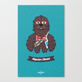 Hipster Chewi Canvas Print