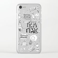 Forever Tea Time 1 Clear iPhone Case