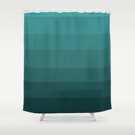 Winter Dark Blue Turquoise Shower Curtain