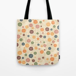 Scumbley Checkered Flowers Tote Bag