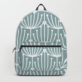 Retro Art, Floral Prints, Light Teal Backpack