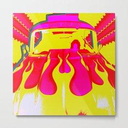 1955 Bel Air Pink PopArt Metal Print