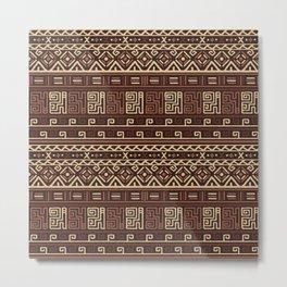 Tribal Patterns Metal Print