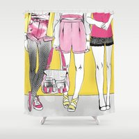 girls Shower Curtains featuring Girls by Sol Fortuny