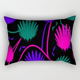 Neon Colorful Palm Rectangular Pillow